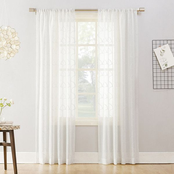 No918 Lima Embroidered Scallop Sheer Window Curtain 21 Liked