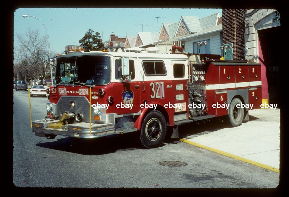 FDNY Engine 321 1989 Mack CF Ward 79 pumper Fire Apparatus slide