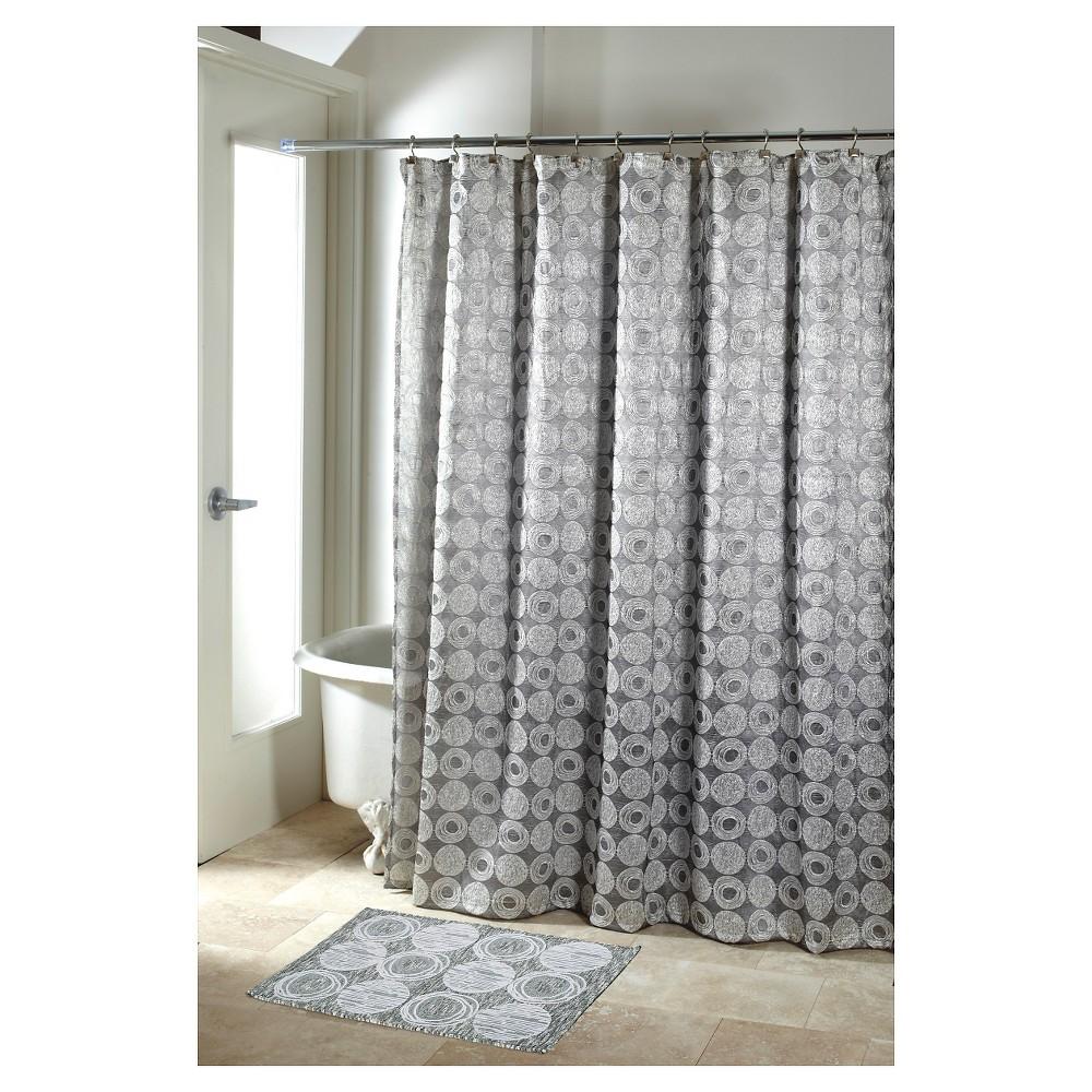Avanti Galaxy Shower Curtain Silver Silver Shower Curtain
