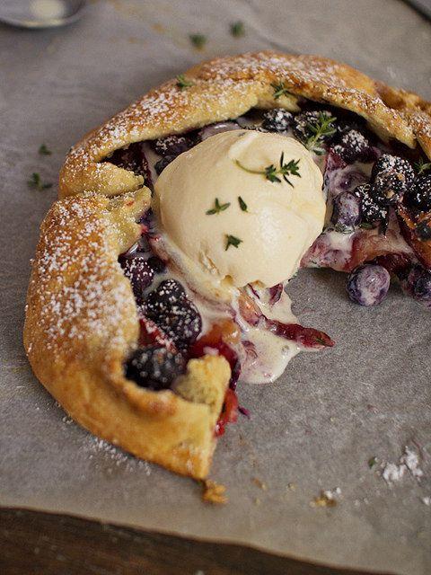 plum, blueberry & thyme galette by spicyicecream, via Flickr