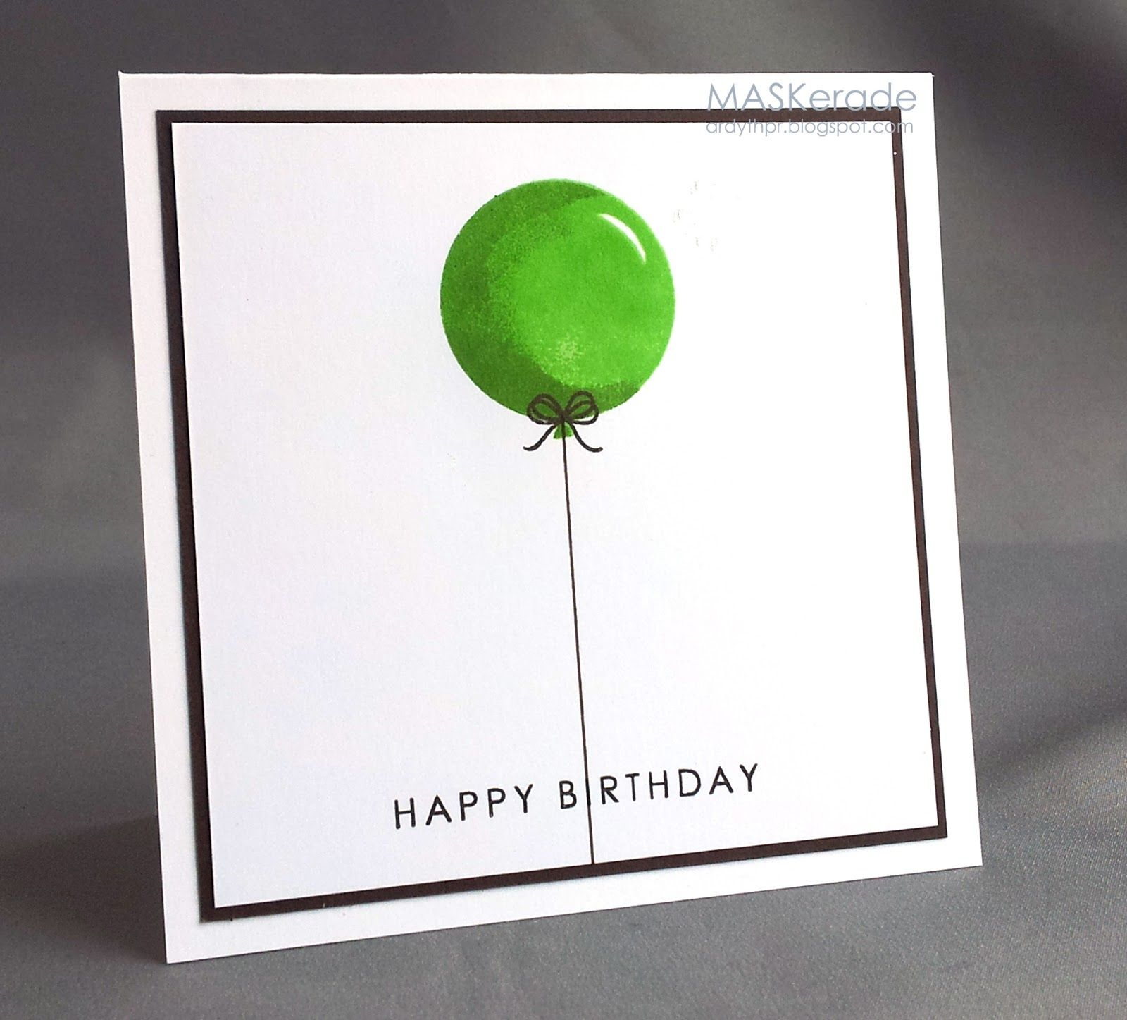 Maskerade the card concept challenge lime espresso white