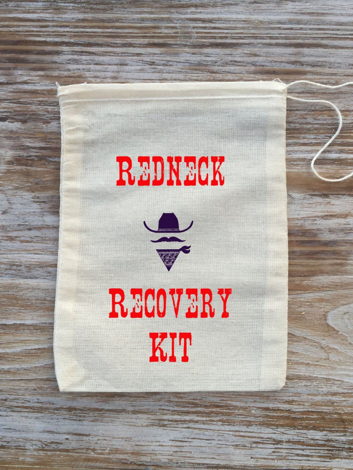 10 Redneck Recovery kit bags, Country wedding Recovery Kits, redneck ...