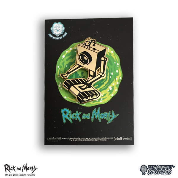 Golden Butter Bot - Rick And Morty Pin