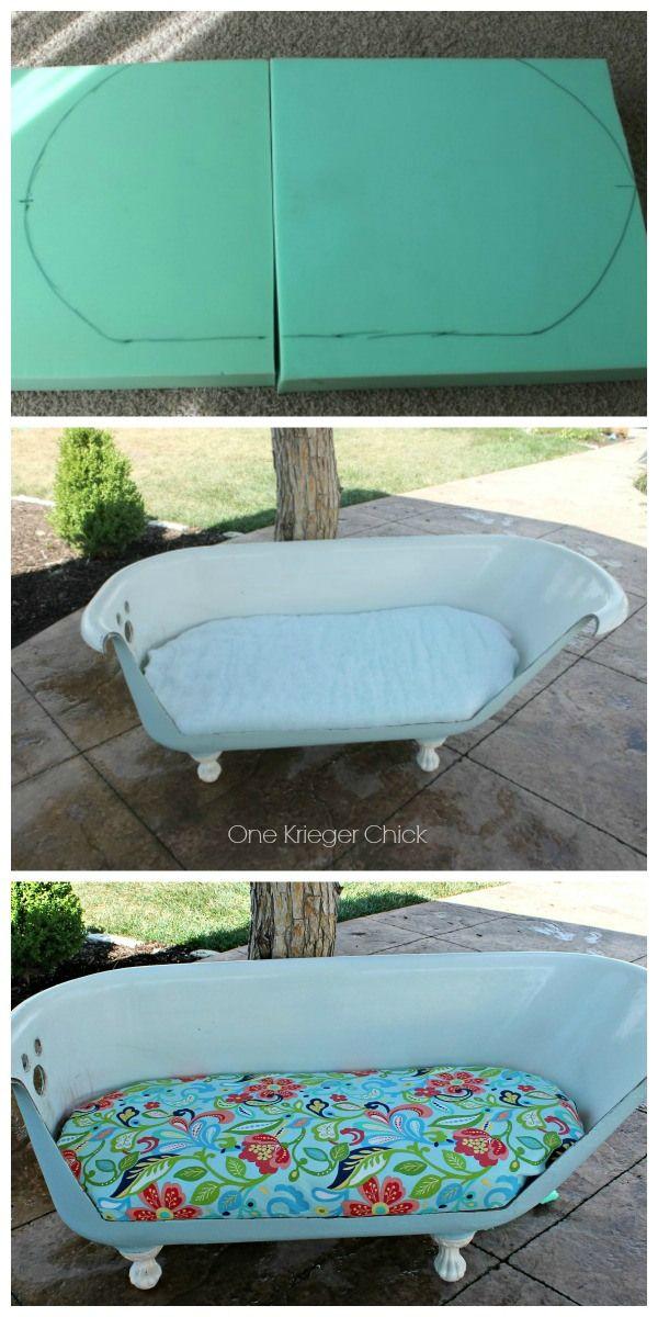 Cast Iron Bathtub to Outdoor Sofa {part 2   Sofa cushions, Bathtubs ...