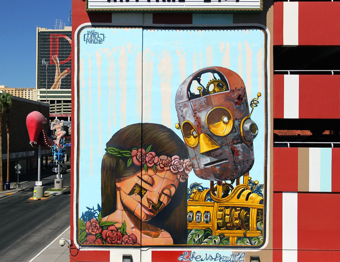 New Murals and Art Installations at 'Life is Beautiful' 2015 | Colossal