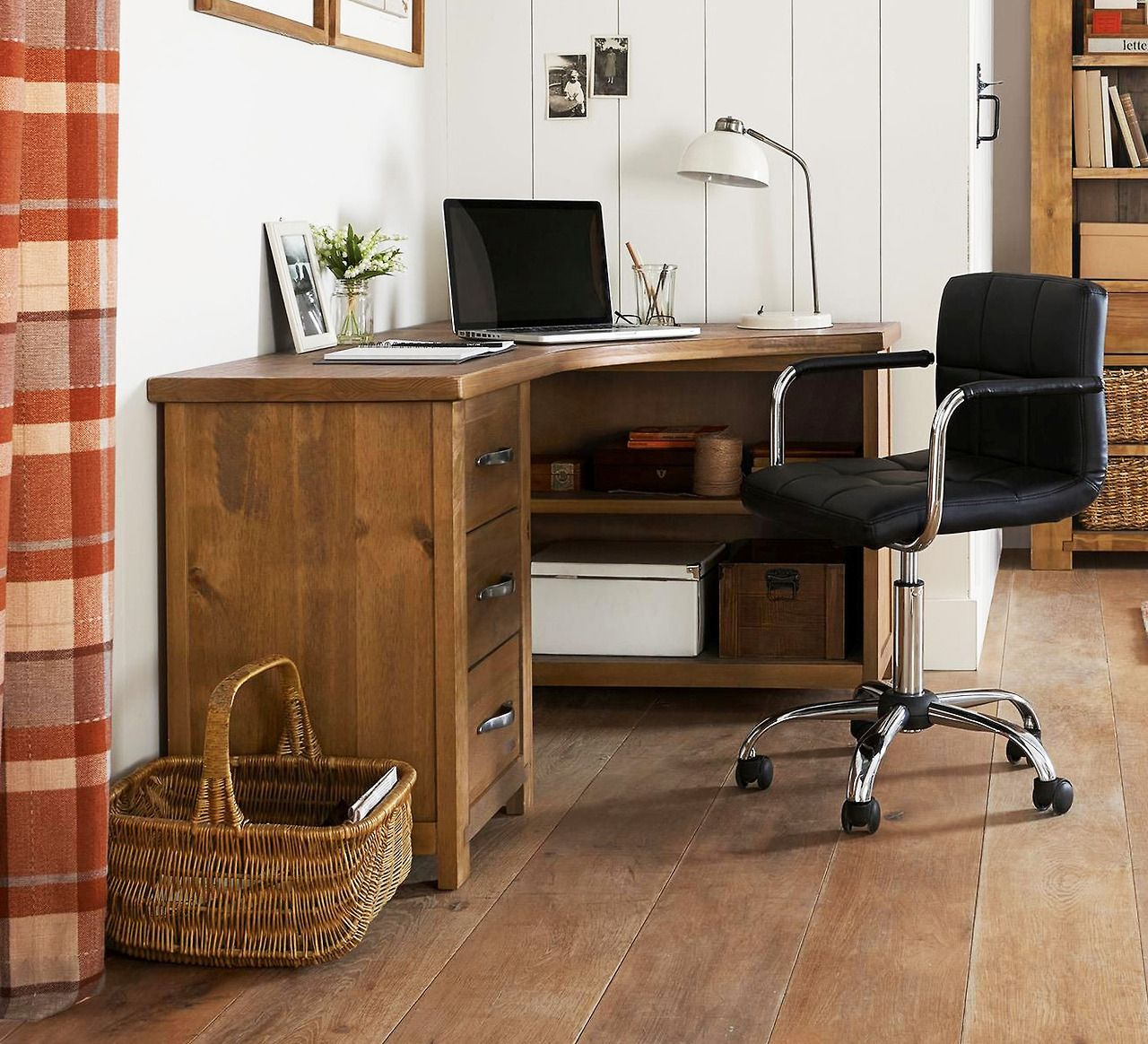 Hartford solid pine corner desk from next english home pinterest see best ideas about - Pine corner desks ...