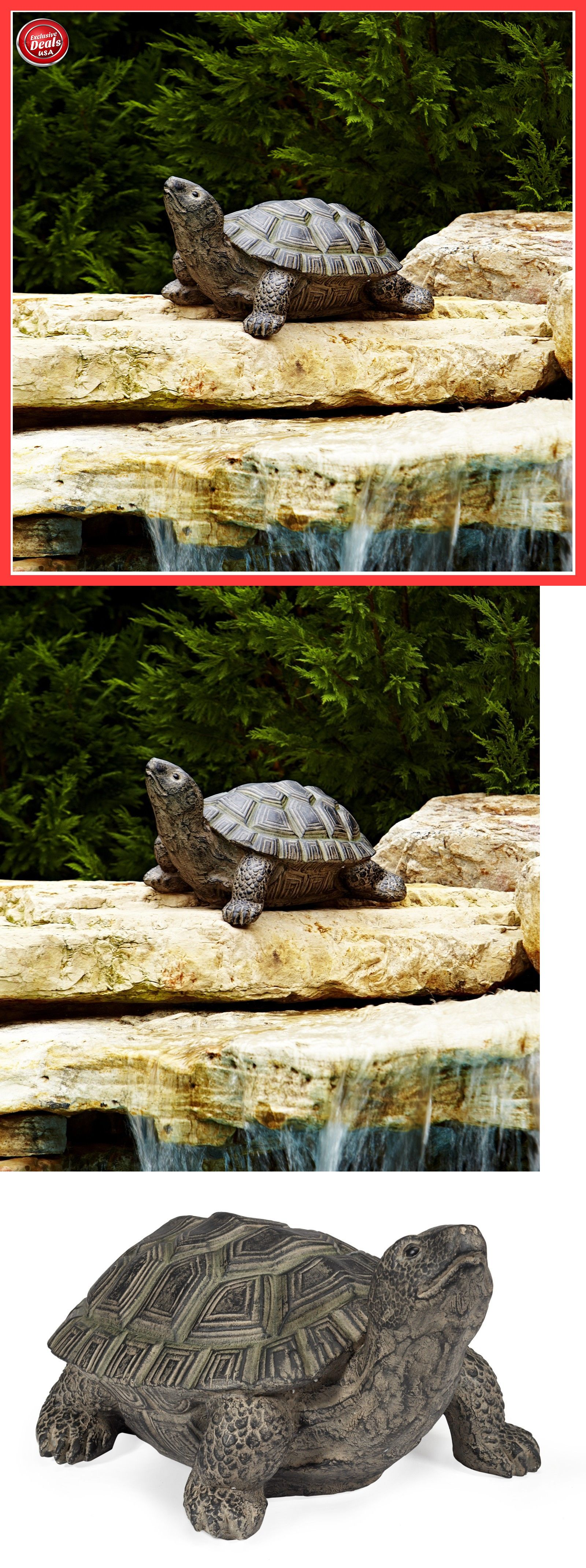 Outdoor decor statues - Statues And Lawn Ornaments 29511 Large Turtle Statue Garden Outdoor Decor Yard Patio Sculpture Bronze