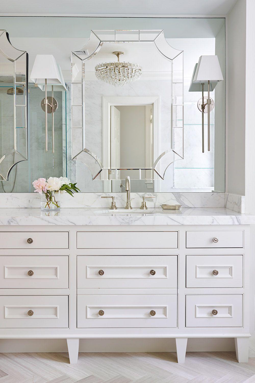 dream master bathroom with custom designed furniture style on custom bathroom vanity mirrors id=75449