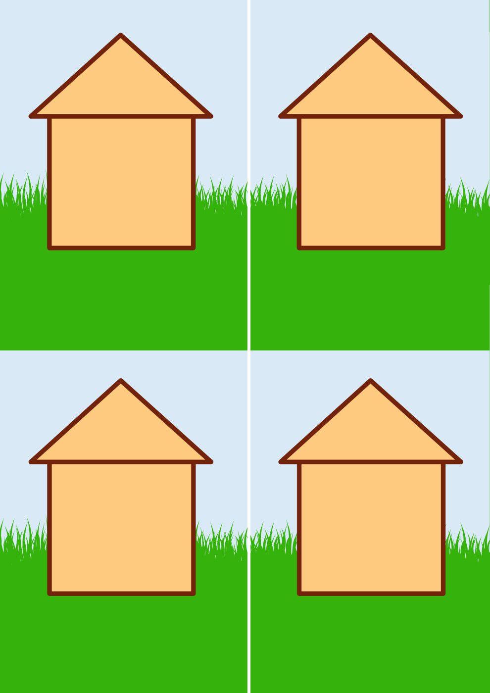 Аппликация «Пёсик в домике сидит» | Картинки ...