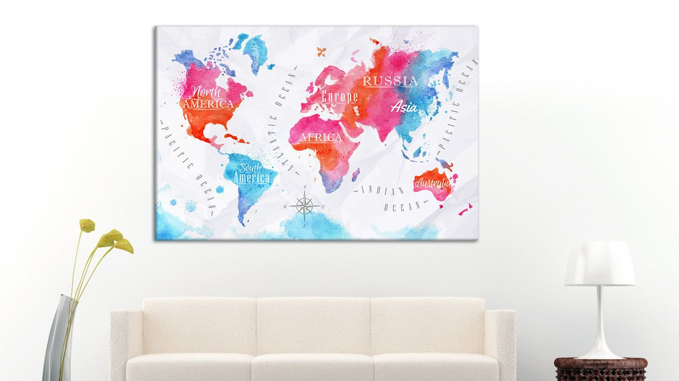 Extra large world map world map on canvas wall world map big canvas extra large world map world map on canvas wall world map big canvas canvas art map of world canvas world map wall art large wall art canvas gumiabroncs Images