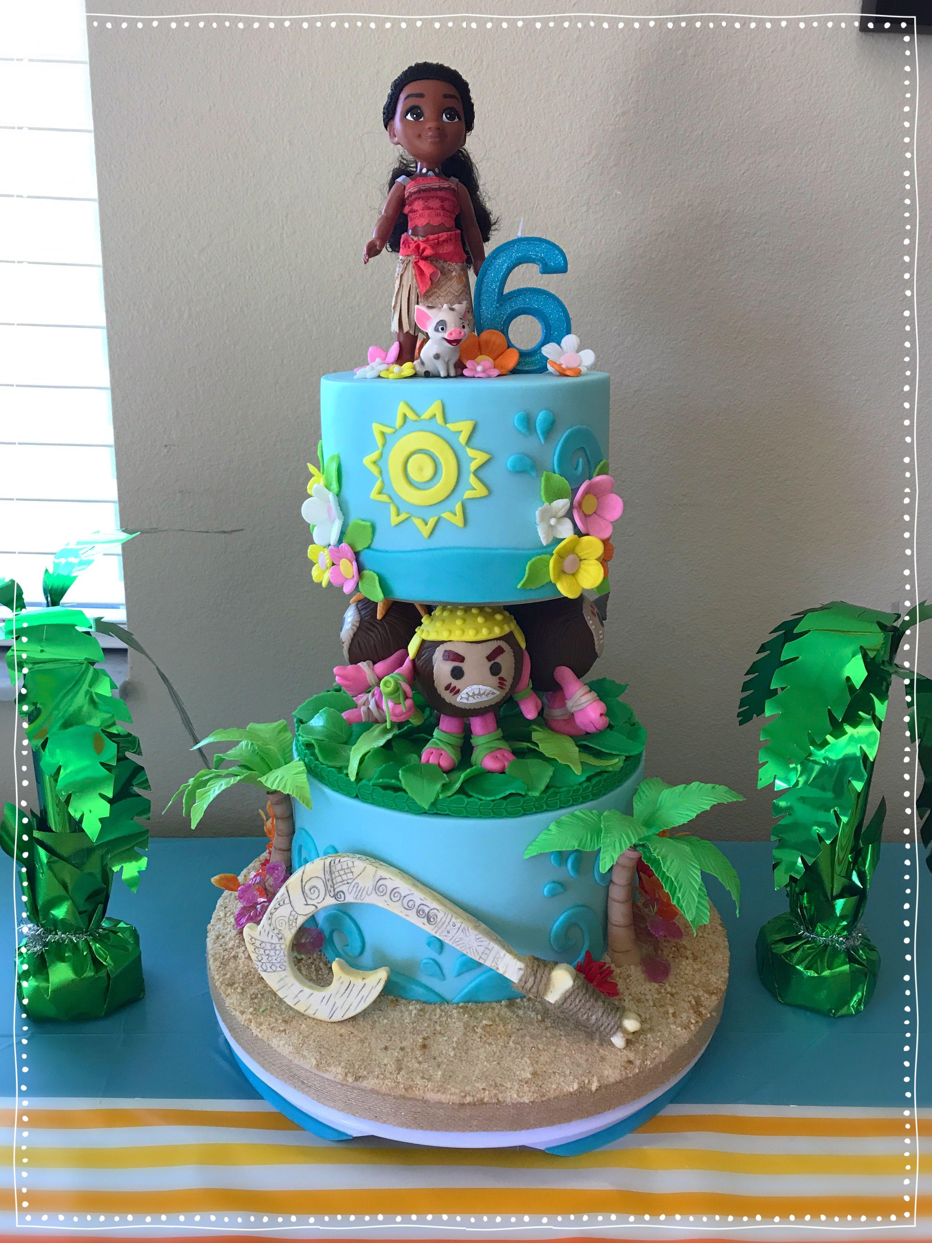 Moana Cake Cakes For Girls Moana Birthday Decorations