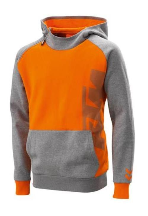 373260335 Features: - Hooded sweatshirt with practical zipper on the side - Orange  hood lining - Large reflective KTM logo with reflector optics - Printed  READY TO ...