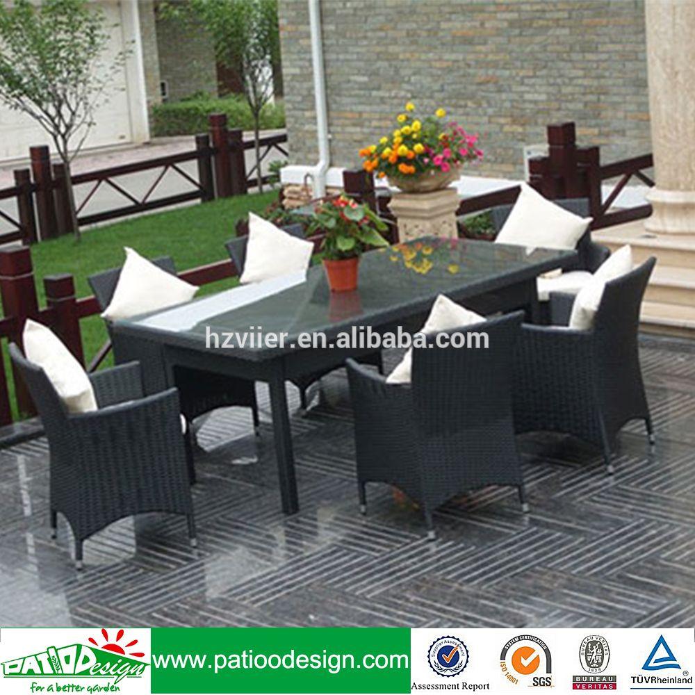 Zhejiang barato al por mayor ratán mimbre al aire libre muebles de ...