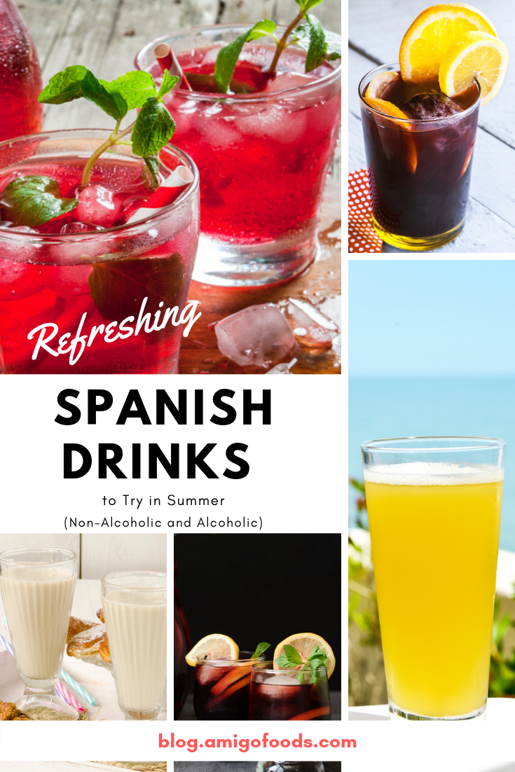 Refreshing Spanish Drinks To Try In Summer Non Alcoholic And Alcoholic The Best Latin Spanish Food Articles Recipes Amigofoods In 2020 Spanish Drink Spanish Drinks Recipes Non Alcoholic