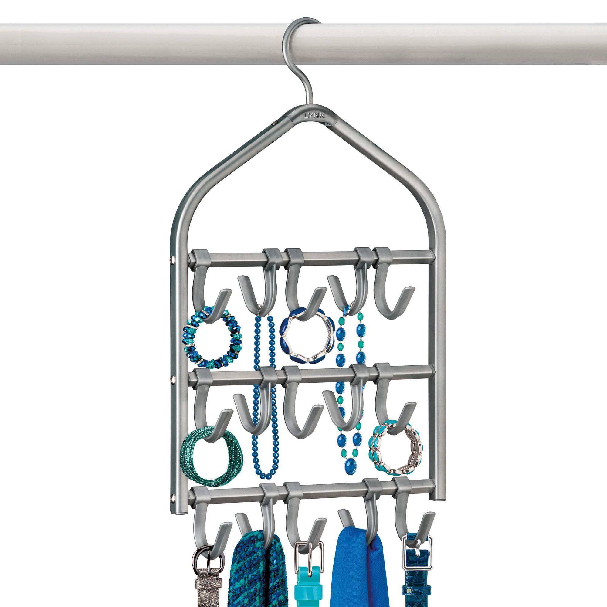 15 Hook Accessory, Scarf, & Jewelry Organizer