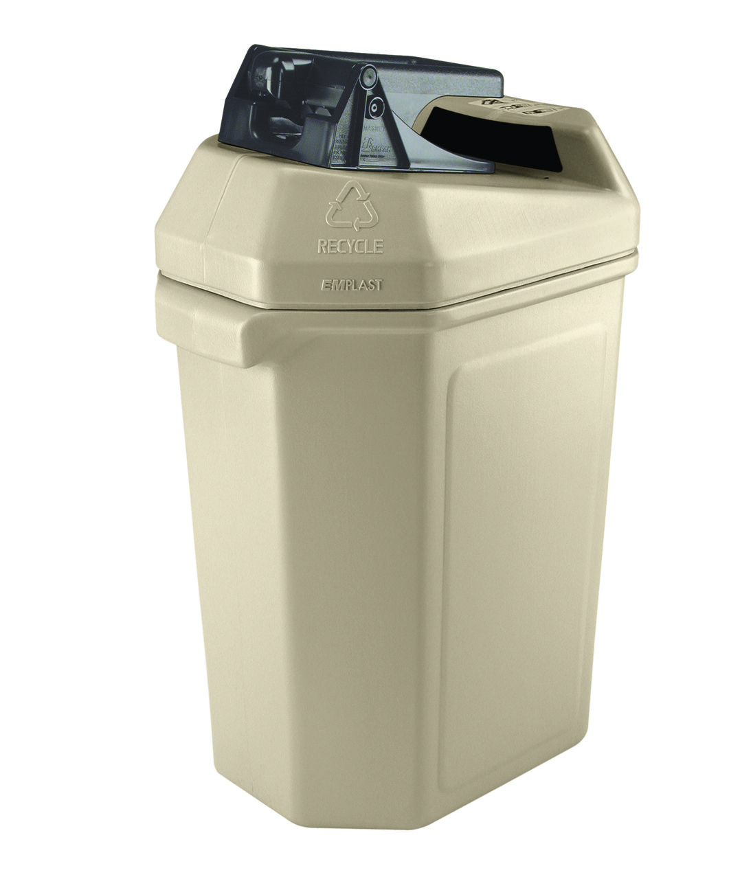 30 gallon kitchen trash can country faucets aluminum crusher indoor recycling station