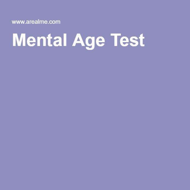 mental age test mental age pinterest mental age test