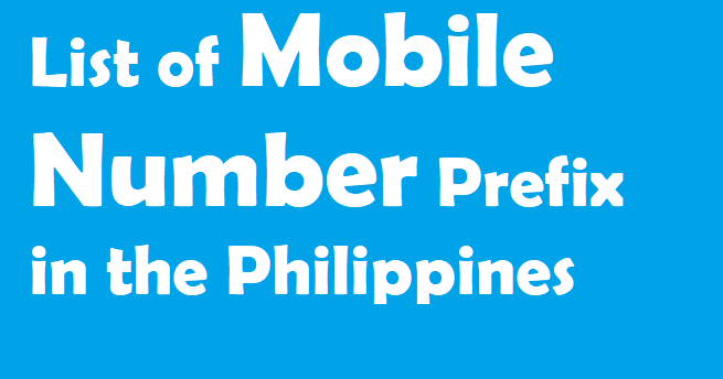 Ok lets discussed List of Mobile Number Prefix in the