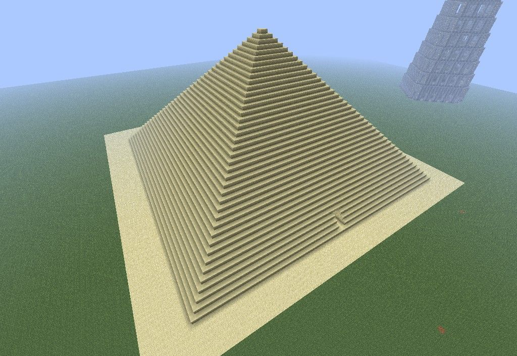 Great Pyramid Of Giza Minecraft Map With Images Great Pyramid