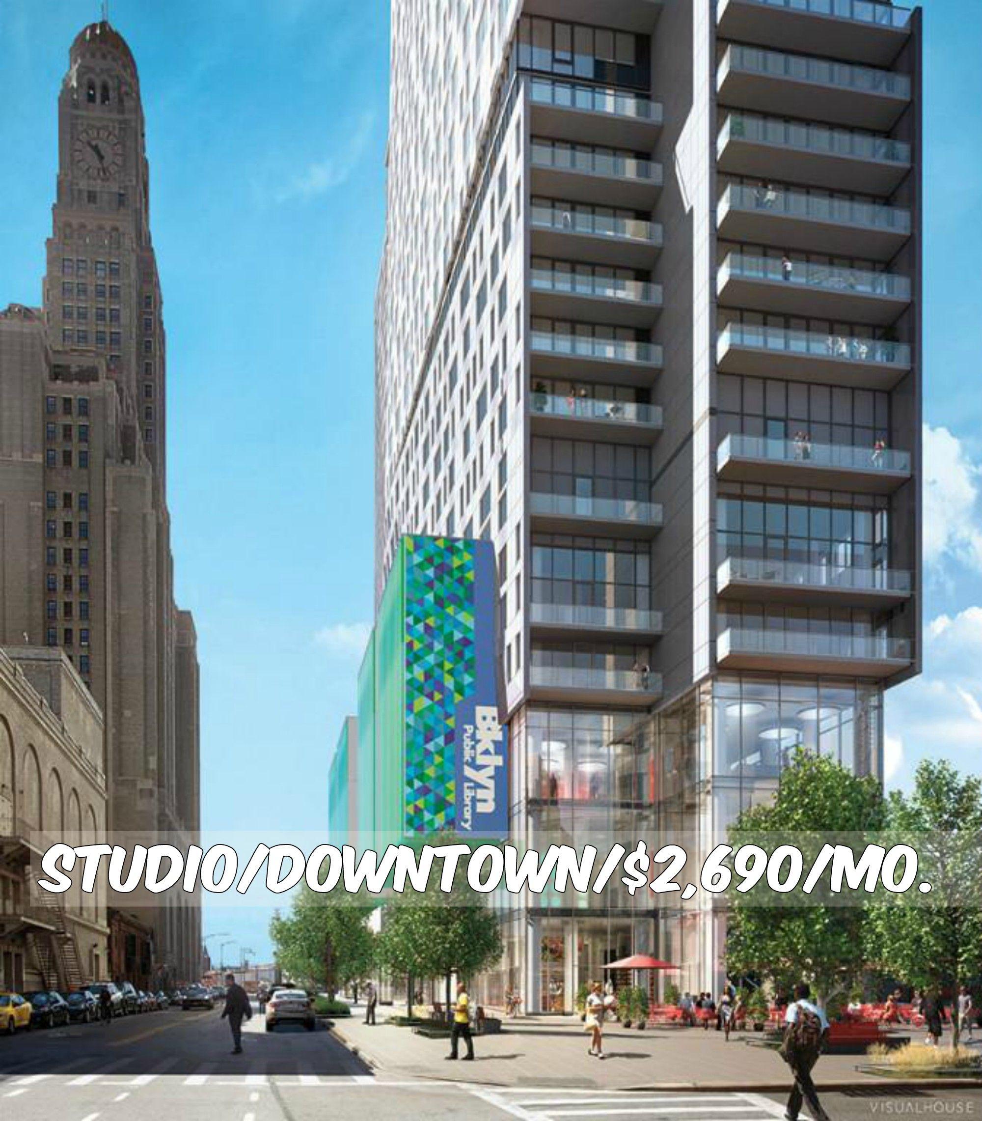 Studio apt for rent in Downtown at 2,690/mo.Doorman