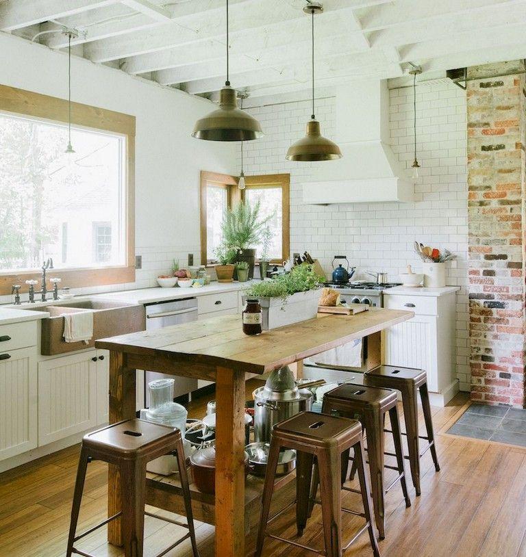 99+ Amazing Farmhouse Kitchen Ideas Budget Kitchen Pinterest