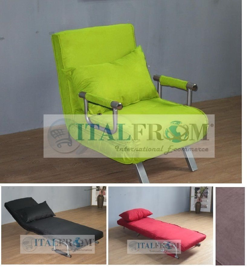 sofa bed single sofabed armchair microfibre italfrom design sofa bed single sofabed armchair microfibre italfrom design