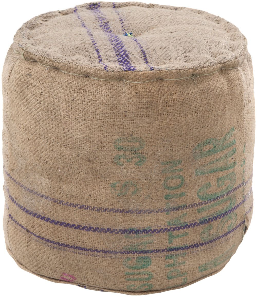 This natural fiber Surya pouf was made in India from 100% Jute. This round upholstered cushioned ottoman features a modern design with beige, tan and purple colors.RugStudio # 65444Brand: SuryaCollection: PoufsPromotion: SALE Material: 100%...