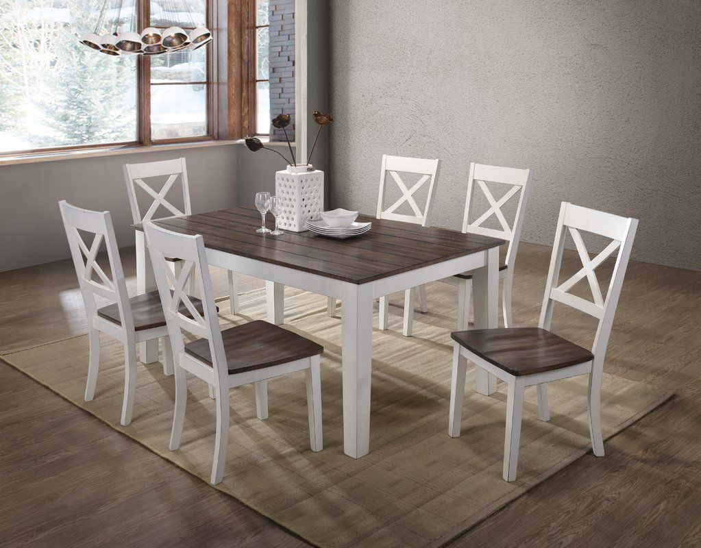 Altamirano Solid Wood Dining Table Dining table, Solid