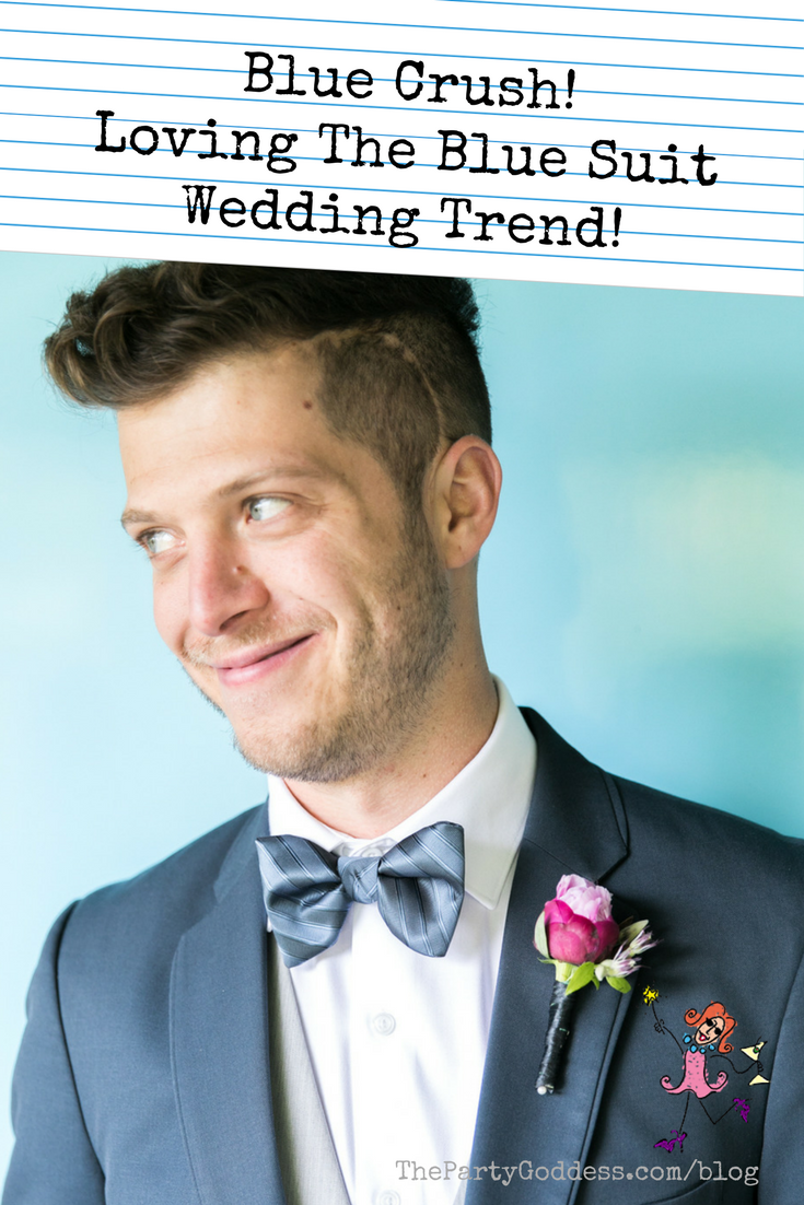 Blue Crush! Loving The Blue Suit Wedding Trend! | Wedding trends and ...