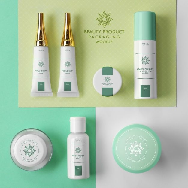 Download Freepik Graphic Resources For Everyone Cosmetics Mockup Free Cosmetics Beauty Packaging