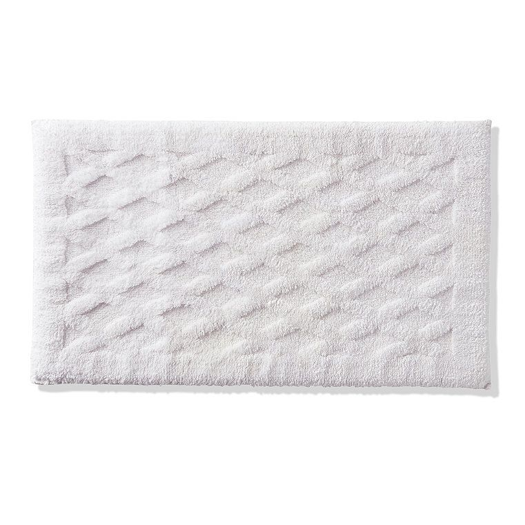 Sonoma White Memory Foam Bath Rug Mat Microfiber Soft Plush 17 X