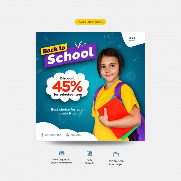 27 Cheap Design Ideas Offering: Back To School With Discount Offer Socia...