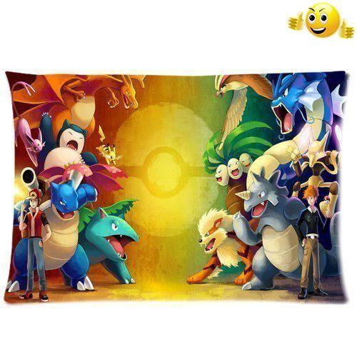Custom Pokemon Pillowcase Standard Size 20x30 Cotton Pillow Case