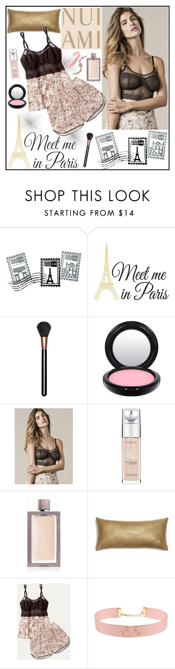 """Nui Ami 1"" by gaby-mil ❤ liked on Polyvore featuring Dot & Bo, WallPops, MAC Cosmetics, L'Oréal Paris, Guerlain, Johnny Loves Rosie, Marchesa, lingerie and nuiami"