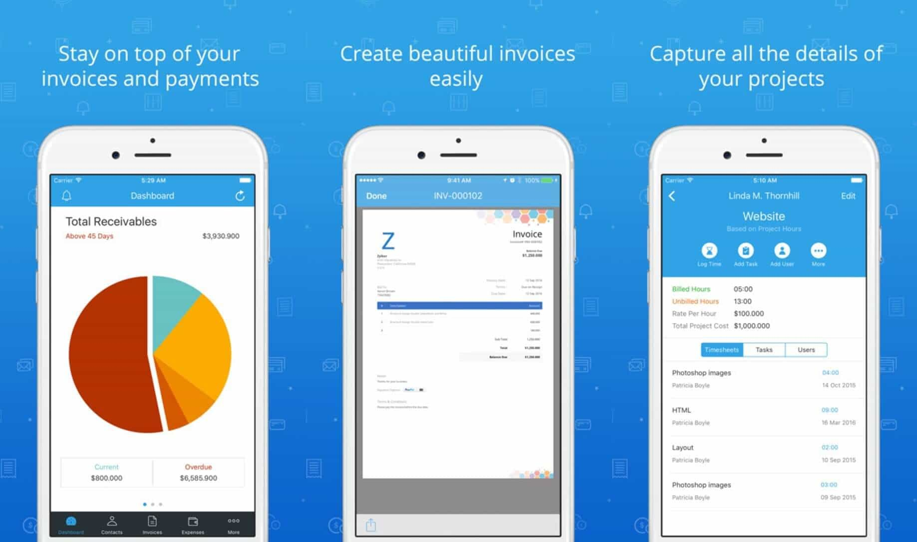 top 5 best invoice app for iphone and ipad 2018 apps tools for