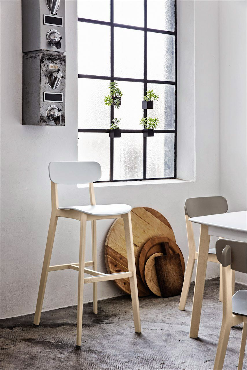 Calligaris Cream Bar Stool Available In A Number Of