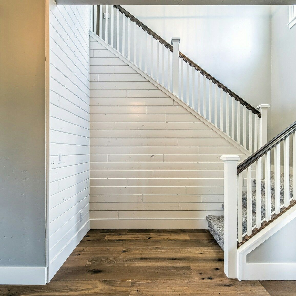 1x8 Wood Accent Wall: Shiplap Accent Wall With Sherwin Williams Westhighland