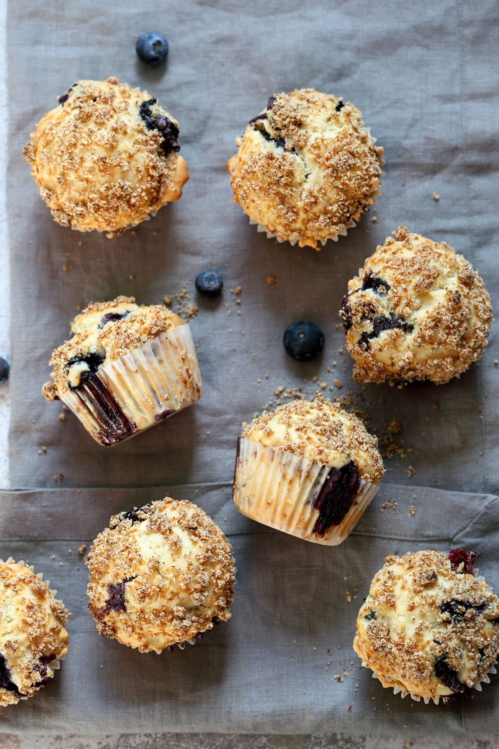 Vegan Blueberry Muffins with Streusel Easy Vegan Blueberry Muffins with Streusel. These Blueberry Streusel Muffins are soft , tall, and berrylicious. The batter needs just 1 Bowl. BlueberryMuffins Can be made without nuts, Gluten-free option