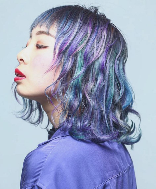 髪色 髪型 トレンド ユニコーンカラー レインボー カラフル アッシュ