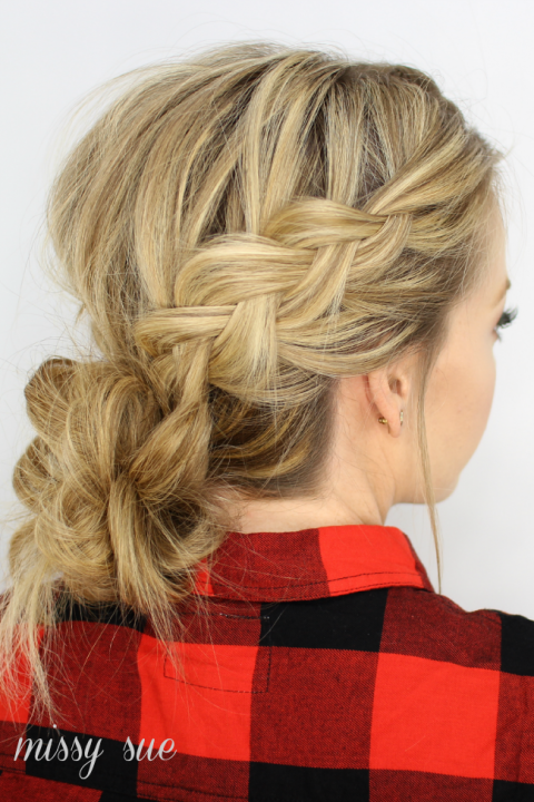 Dutch Braids And Low Messy Bun French Braid Hairstyles