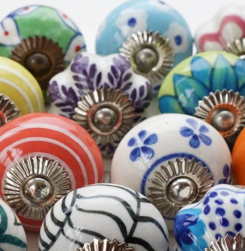 Door Knobs by Colour | Home | Pinterest | Ceramic door knobs, Door ...