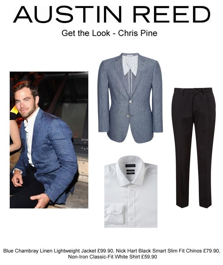 Hollywood Actor Chris Pine Has Mastered The Art Of Dressing Smart Casual Teaming Dark Chinos With A Cri Fitted White Shirt Slim Fit Chinos Crisp White Shirt