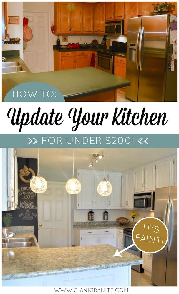 white kitchen makeover on a budget countertop paint that looks like