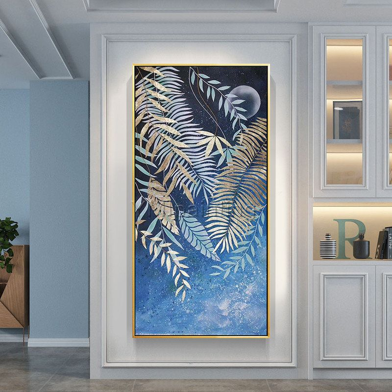 Abstract painting tree leaf gold art Original extra large wall art framed paintings on canvas blue painting wall pictures cuadros abstractos #OriginalPainting #WallDecor #WallPictures #WallArt #AcrylicPainting #GoldPainting #PaintingOnCanvas #ModernAbstract #LargePainting #CanvasPainting