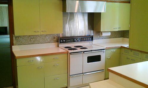 Custom Green 1964 St Charles Kitchen Retro Kitchen Diy Kitchen Remodel Modern Kitchen Design