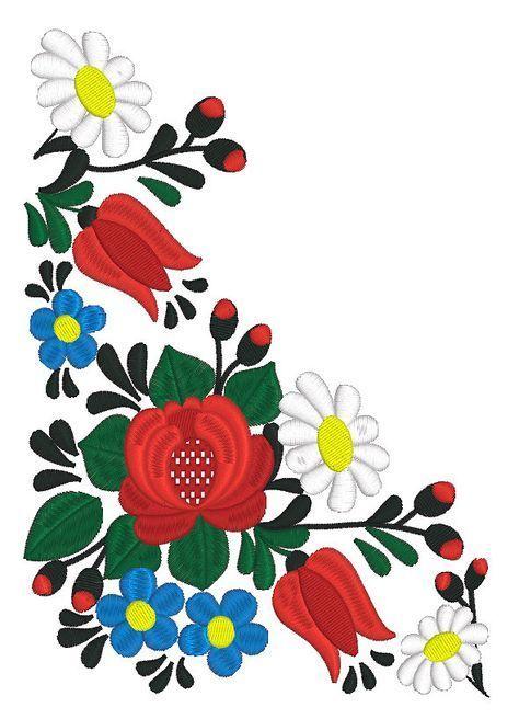 Máquina del bordado diseño arte popular húngaro por RoyalPresentEmb ...