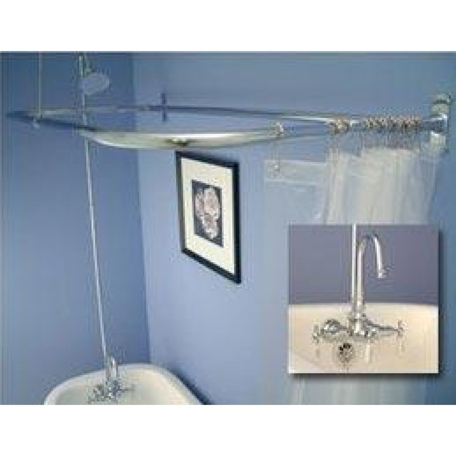 Code Style Clawfoot Tub Shower Conversion Kit - D Style Shower Ring ...