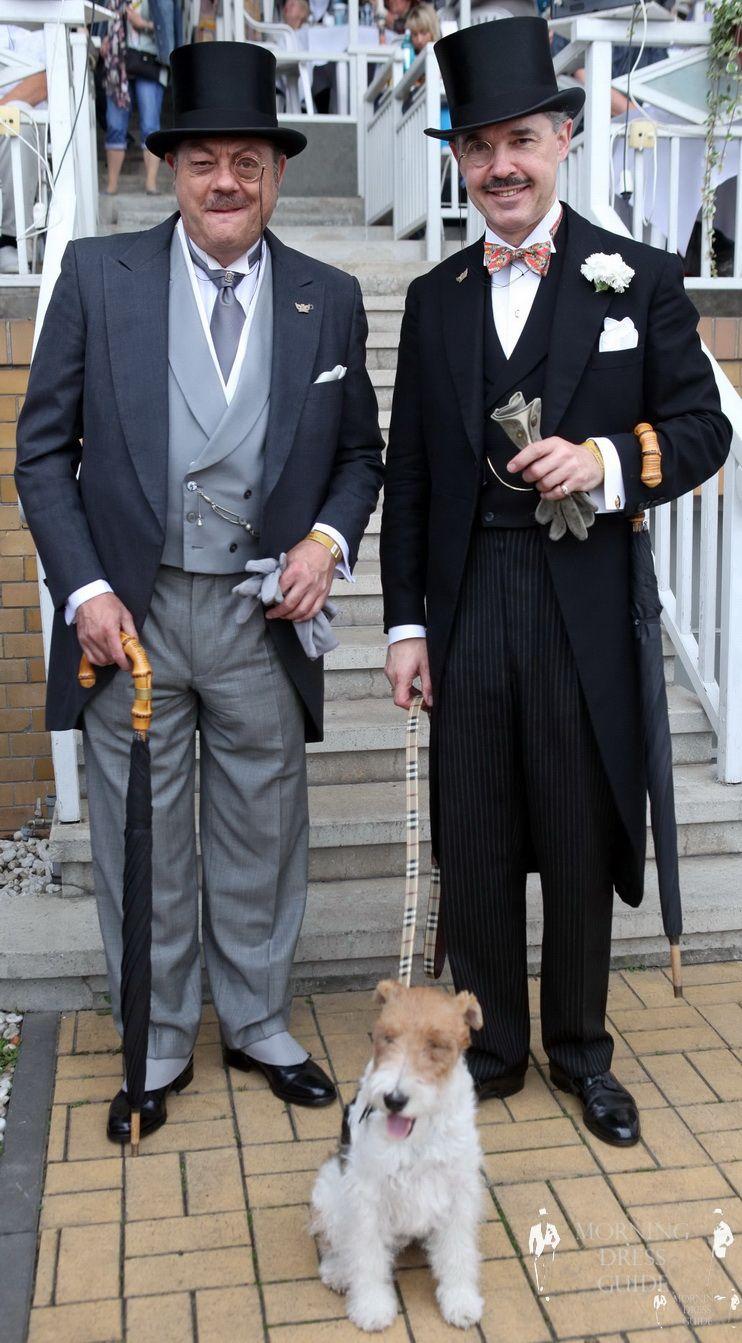 Henry & Bobby de Winter & Ray Frensham in Morning Coats in Berlin 2011 by Frank Sorge