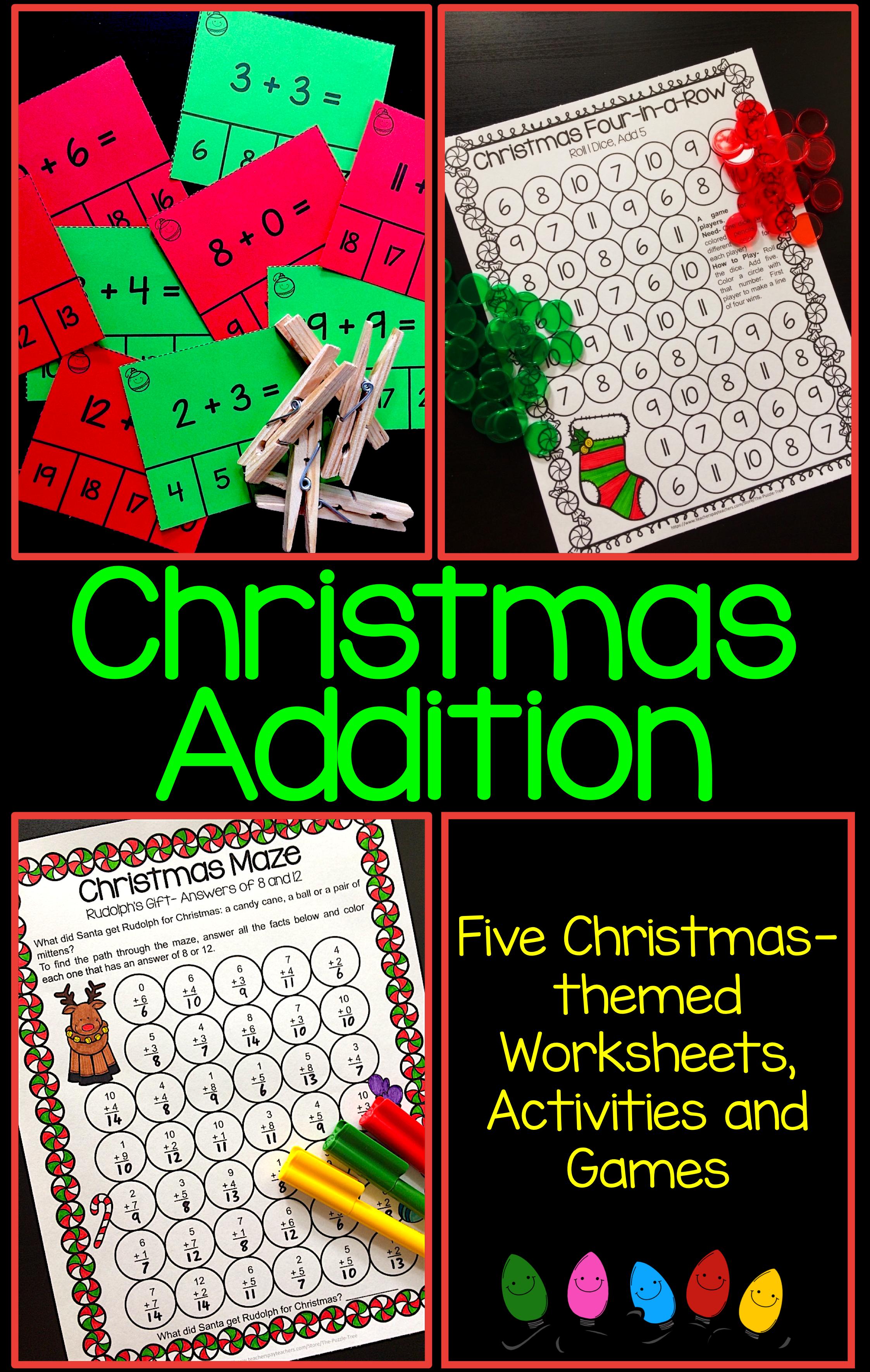 Christmas Addition Activities And Games Christmas