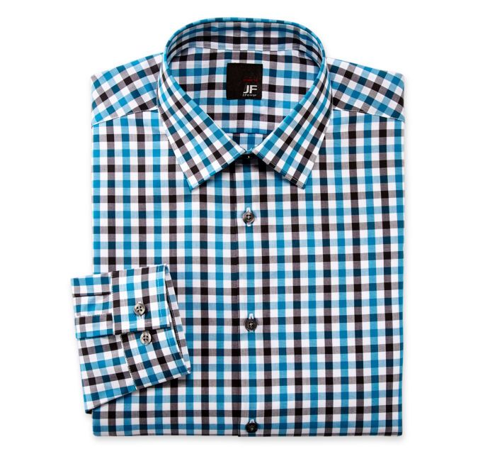 JF J. Ferrar® Gingham Dress Shirt - Slim Fit